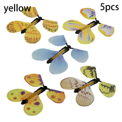 Flying Butterfly Flying Card Magic Props YELLOW 5PCS