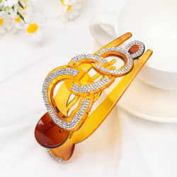Full Crystal Hairpins Hair Clip Styling Clamp BRUN