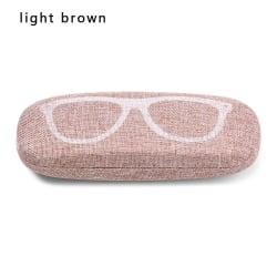 Glasögon Box Glasögonfodral Glasögonhållare LJUSBRUN