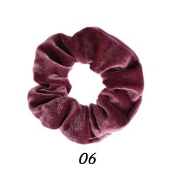 Hair Scrunchie Velvet Scrunchie Elastic Hair Ties 06