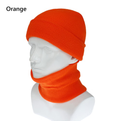 Hat Scarf Set Men's Hat Scarf ORANGE orange
