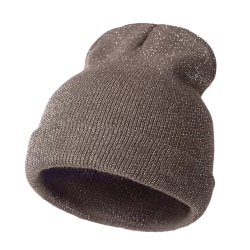 Knitted Hat Bronzing Gold Silver Beanie COFFEE&SILVER coffee&silver