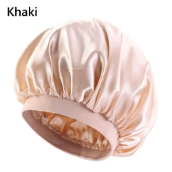 Large Satin Bonnet Satin Sleeping Cap KHAKI
