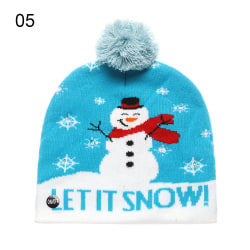 LED Christmas Hat Knitted Caps Sweater Beanie 05 05