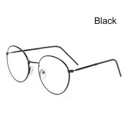 Metal Glasses Anti-Blue Light Eyeglasses Ultra Light Frame BLACK