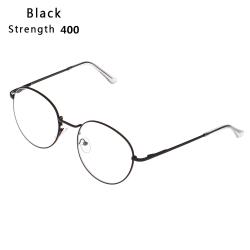 Myopia Glasses Eyeglasses Reading Glasses BLACK STRENGTH 400