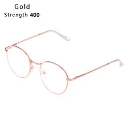 Myopia Glasses Eyeglasses Reading Glasses GOLD STRENGTH 400