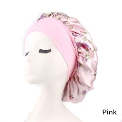 Night Sleeping Cap Wide Band Cap Chemo PINK pink