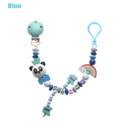 Pacifier Clip Pacifiers Chain Teething Soother BLUE