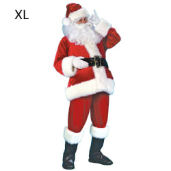 Santa Claus Costume Outfit Christmas Father Dress XL