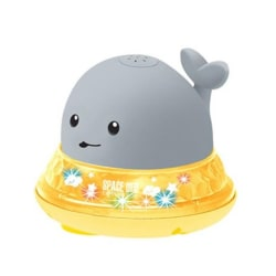 Spray Water Ball Bath Toy Whale GREY WHALE AND BASE grey
