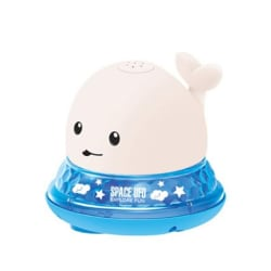 Spray Water Ball Bath Toy Whale WHITE WHALE AND BASE