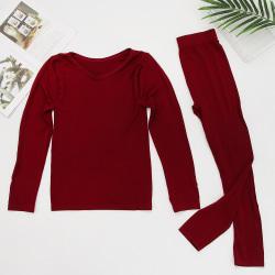Thermal Underwear Winter Warm Clothes Inner Wear WINE RED FEMALE wine red Female