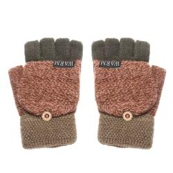 Thickening Wool Gloves Winter Warm Mittens Half-finger Gloves