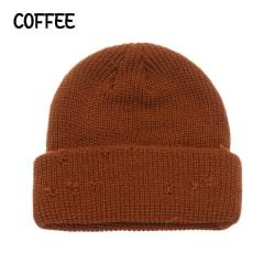Winter Mössa Skullcaps Melon Shape COFFEE