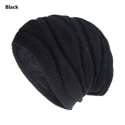 Winter Warm Hat Slouchy Beanies Skiing Hat BLACK Black