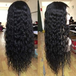 Women Wig Long Curly Wig High Temperature Fiber No Lace Front