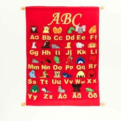 ABC Tygtavla Röd Röd