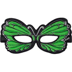 Ansiktsmask - grön fjäril Grön