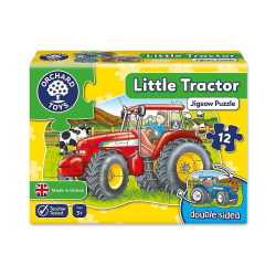Dubbelsidigt pussel Little Tractor från Orchard Toys