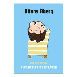 Skrivbok - Alfons Åberg Lär dig skriva alfabetets bokstäver