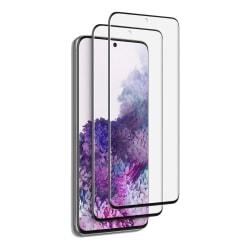 2-Pack C4U® Härdat Glas för Samsung Galaxy S20 Ultra Bubbelfritt Black För Galaxy S20 Ultra