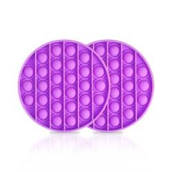 2-Pack Pop It - Fidget Toy - Flera Färger - Lila Purple 2pack - Purple
