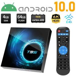 6K Full HD Mediaspelare T95 4GB 64GB - KODI, WiFi TV Box IPTV