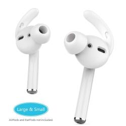 C4U Earhooks In-ear för AirPods 2 Earhooks / Earbuds silikon kit White