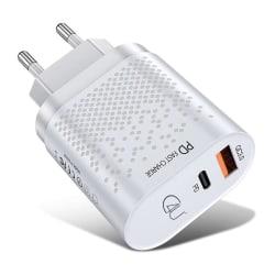 C4U® - 20W Super laddare för iPhone 12 /12 Pro PD Fastcharge Vit