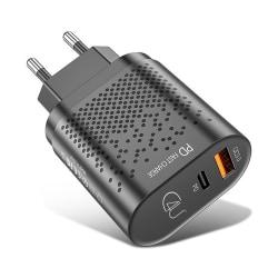 C4U® - 20W Super laddare för iPhone 12 /12 Pro PD Fastcharge Svart