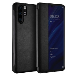C4U® flip skal fodral till Huawei P30 Pro window view Black