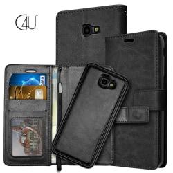 C4U® Galaxy J4+ Plånboksfodral / Magnetskal Plånbok Black