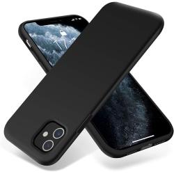 C4U® Matt iPhone 11 Matt Svart Liquid Silikon Matt Svart skal