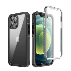 C4U® Shockproof Defence - iPhone 12 / 12 Pro  -skal Stötdämpande Black