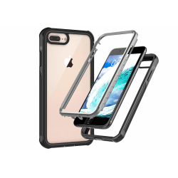 C4U® Shockproof Defence - iPhone 8+ - Stötdämpande skal 3i1 Black P30pro