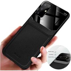 C4U® skal för Samsung Galaxy S20 ShockLeather Glas - Slimmat Svart