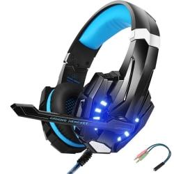 Gaming headset hörlurar C4U® G9000 Mic för Playstation 4 / Ps4 P Svart