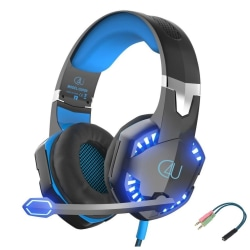 Gaming headset hörlurar C4U® G2000 Mic för Playstation 4 / Ps4 P Svart