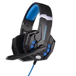 Gaming headset hörlurar Bahamoot Mic för Playstation 4 / Ps4 Ps5 Svart