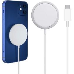 Magnetisk Trådlös snabbladdning för Apple iPhone Magsafe 20W Vit