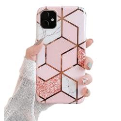 Marmor skal för iPhone 11 Pro Max - Lyx Glitter / Rosa C4U® Pink AirPods
