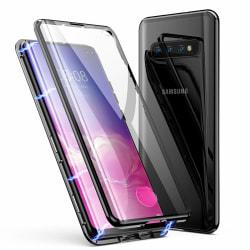 Premium Galaxy S10+ Stötdämpande magnet Skal med glas C4U® Svart