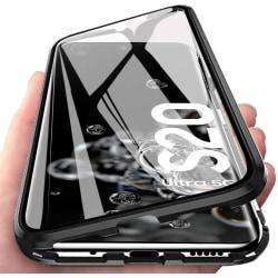 Premium Galaxy S20 Ultra Stötdämpande magnet Skal med glas C4U® Svart