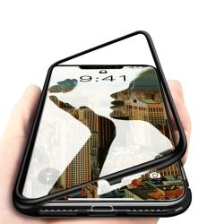 Premium iPhone 11 Pro Stötdämpande magnet Skal med glas C4U® Black