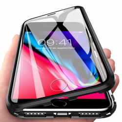 Premium iPhone 8 / 7 Stötdämpande magnet Skal glas fullbody C4U® Black