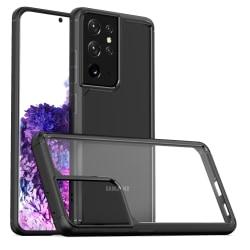 Samsung Galaxy S21 Ultra ShockBlack - Slimmat genomskinligt skal Black Galaxy S21 Ultra