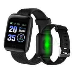 Smartklocka Smartwatch IP67 vattentät - D13 2020 modellen  Svart