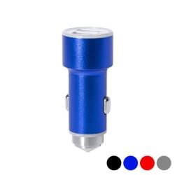 Bil USB-laddare med hammare för att krossa rutor 2100 mAh 14558 Blå