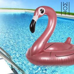 Uppblåsbar Gummiring Flamingo Summer Wagon Trend